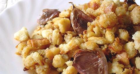 migas con torreznos - menu restaurante el picaor
