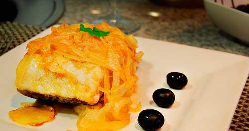 Bacalao a la portuguesa | Restaurante El Picaor