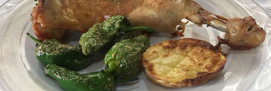 Muslo de pollo al horno - Restaurante El Picaor