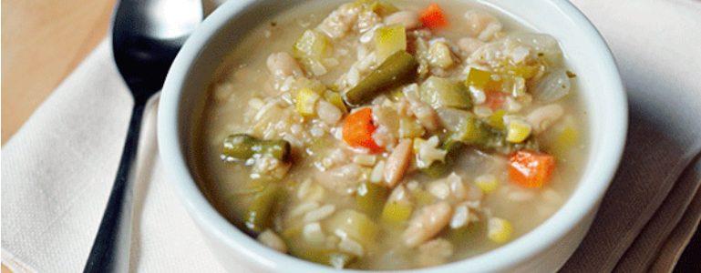 Sopa de arroz y verduras - Restaurante El Picaor